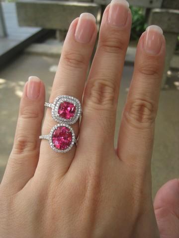 Red Beryl Wedding Ring